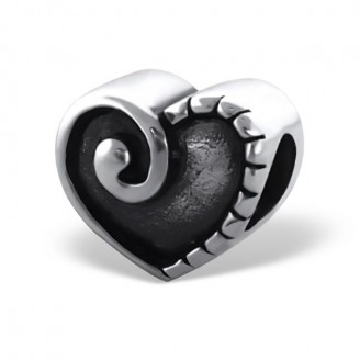 "Stříbrný korálek na Pandora náramek ""Mysteriózní srdce"". Ag 925/1000"